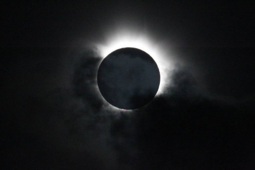 Total solar Eclipse viewed at Palm Cove in Cairns, Australia.