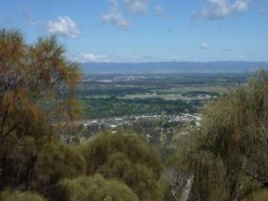 A view over North Watson from the 300 metre long stone wall on Mt Majura