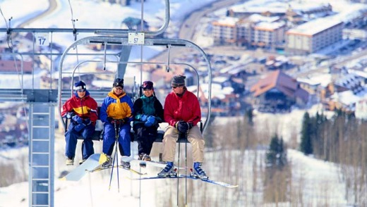 On the chairlift at Crested Butte.