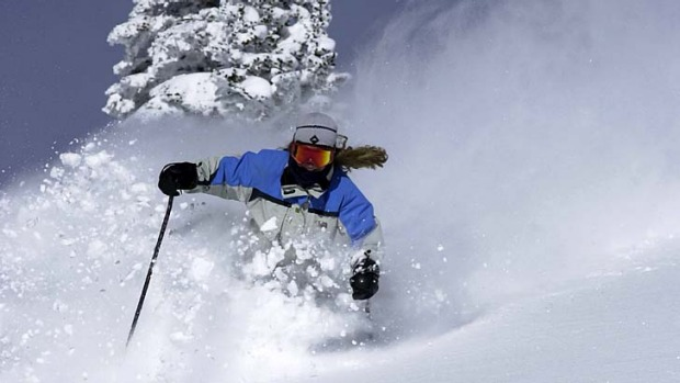 "In the groove ... ""champagne powder"" snow at Steamboat Springs."