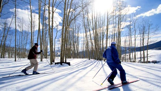 Cross-country skiing at Crested Butte.
