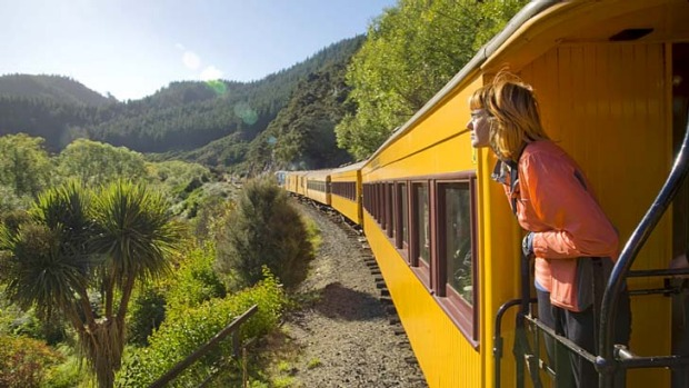 Bliss ... Taieri Gorge Railway near Dunedin.