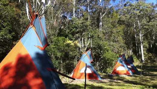 Central Coast Eco Tours tepees.