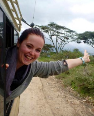 Before the fall ... Erin Langworthy in the last picture taken of her before her ill-fated bungy jump in Zambia.
