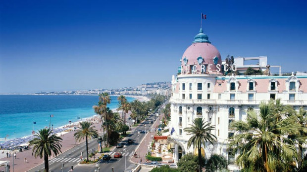 The Negresco is in prime position on the Cote d'Azur.