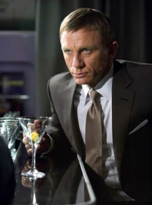 Shaken, not stirred ... Daniel Craig as James Bond.