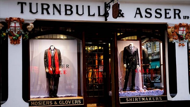 The front of Turnbull & Asser on Jermyn Street.