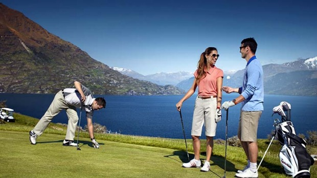 Tee-rrific ... the Jack's Point golf course near Queenstown.