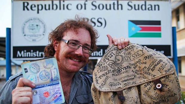 After reaching the world's newest country, South Sudan, Graham Hughes from Liverpool in the United Kingdom claims to be ...