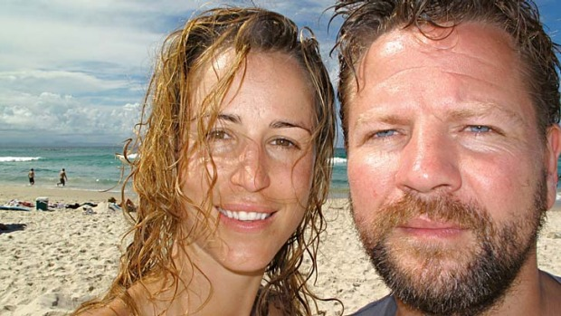 Tim Ross at Inverloch with his wife, Michelle.