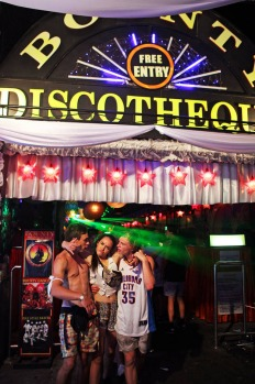 Patrons party at the Bounty Nightclub on the Jalan Legian strip in Kuta.