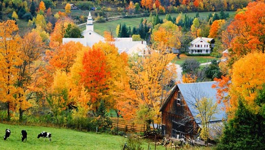 New England in Autumn.