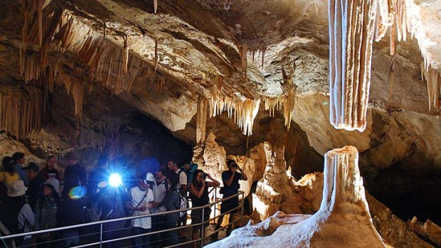 Light at the end of the tunnel … the state government hopes to privatise Jenolan Caves.