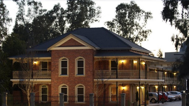 Carlyle Suites and Apartments has the timeless look of a country pub.