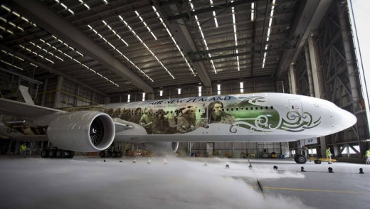 Air New Zealand's Hobbit-themed plane.