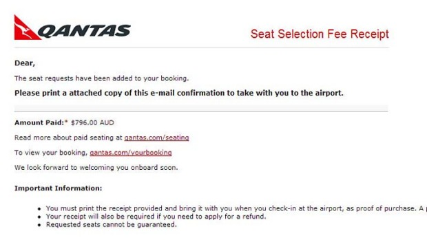 Qantas warns customers over email scam