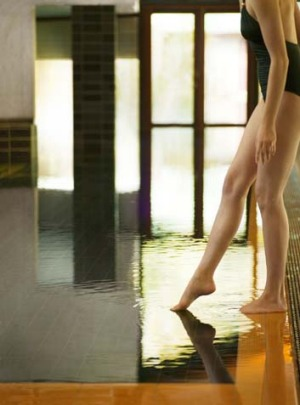 Soothing ... test the waters at the Hepburn Bathhouse and Spa.