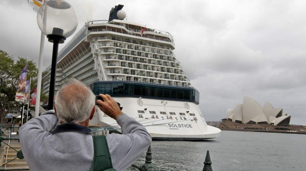 The Celebrity Solstice docked in Sydney. December 11, 2012.