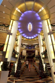 Main foyer of The Celebrity Solstice. December 11, 2012.