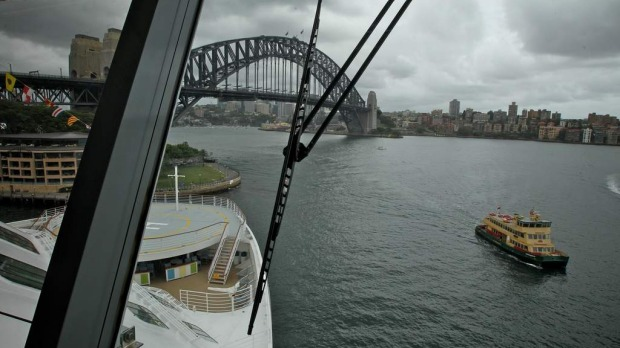 On the bridge of the Celebrity Solstice. December 11, 2012.