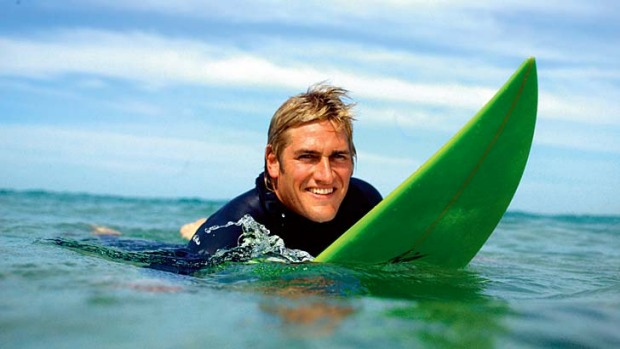 Bay boy ? Curtis Stone in the surf.