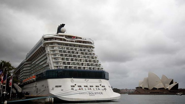 Wow factor ... the Celebrity Solstice at Circular Quay is quite a spectacle.