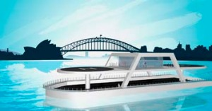 An artist's impression of the proposed helipad for Sydney Harbour.