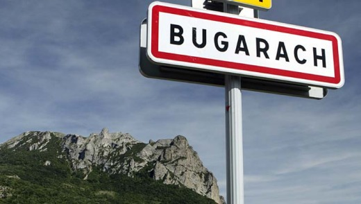 Bugarach .... a global internet conspiracy theory suggests that this village, with its curious upside down mountain, ...