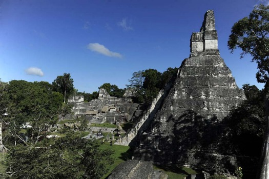 "View ""Gran Jaguar"" Mayan temple at the Tikal archaeological site in Peten departament, 560 kms north of Guatemala City, ..."