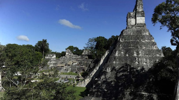 "View ""Gran Jaguar"" Mayan temple at the Tikal archaeological site in Peten departament, 560 kms north of Guatemala City, on December 20, 2012. Ceremonies will be held here to celebrate the end of the Mayan cycle known as Bak'tun 13 and the start of the new Maya Era on December 21."