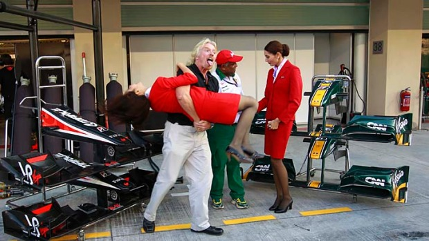 Richard Branson will finally wear a female flight attendant uniform and serve passengers on an AirAsia flight after ...