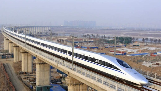 The world's longest high-speed rail line, which runs 2298 kilometers from the capital in the north to Guangzhou, an ...