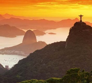 Christ the Redeemer and Sugar Loaf Mountain, Rio de Janeiro.