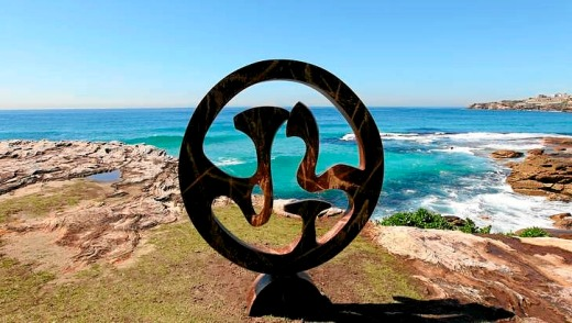 Art with a view ... the Sculpture By The Sea exhibition between Bondi and Tamarama is one of Sydney's most popular strolls.