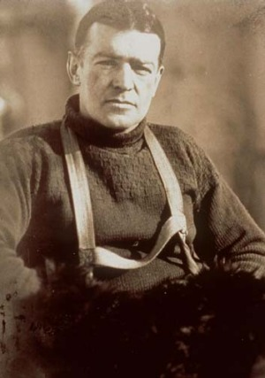 British explorer ... Ernest Shackleton.