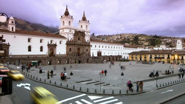 Grand presence ... Quito's Old Town has 25 blocks of colonial buildings.