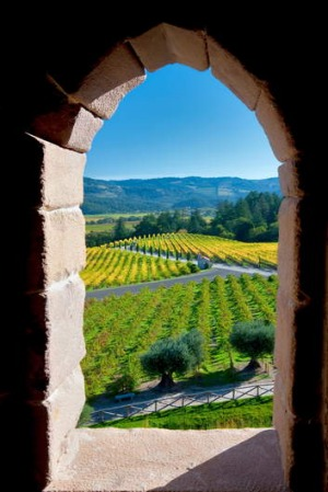 Spanish influene ... Castello di Amorosa in the Napa Valley.