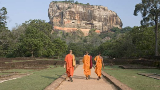 Spiritual sights ... Sigiriya, the 200-metre rock citadel.