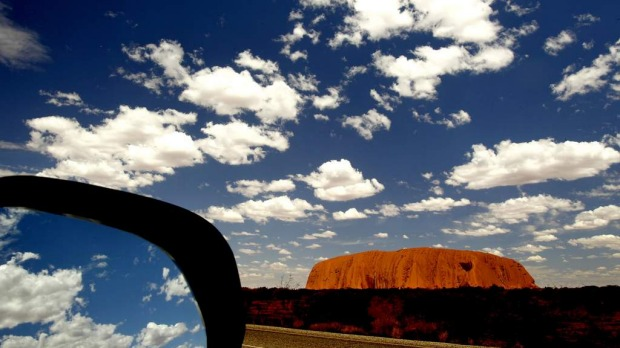 A great view from the road: World Heritage-listed Uluru in Australia's Northern Territory.
