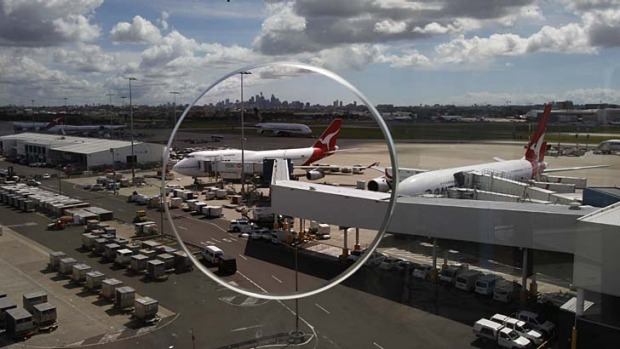 Counting down … Sydney Airport.