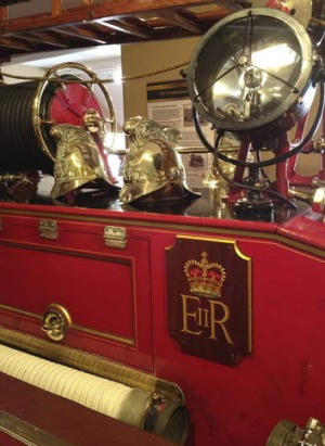 The museum's 1939 Merryweather fire engine.