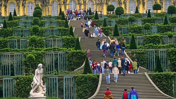 Pearls of Potsdam ... Sanssouci Palace, the summer home of Frederick the Great.