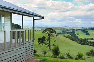 Farm fresh ... the balcony offers views of pastoral Bellview Hill.