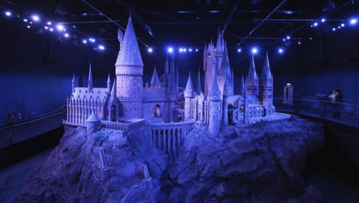 Harry-mania ...   a scale model of Hogwarts castle.