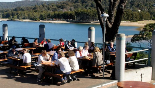Australia's largest beer garden ... the Newport Arms hotel.