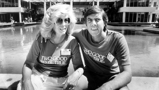 Developer Christopher Skase and his wife, Pixie.