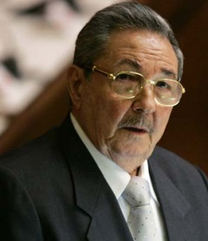 Policy shift ... the Cuban President, Raul Castro.