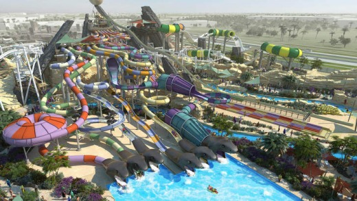 Water park ... an artist's impression of the Yas Waterworld in Abu Dhabi.