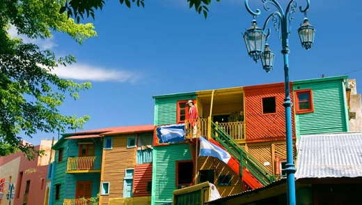 Funky houses in La Boca, Buenos Aires.