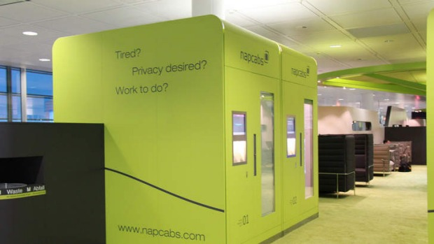 Napcabs for weary travellers at Munich Airport.